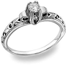 ApplesofGold.com - White Topaz 1 Carat Art Deco Ring in Sterling Silver, $125!