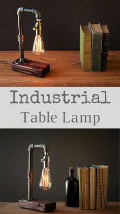 This is an awesome lamp, really love this all together! Industrial Rustic Edison table - desk lamp. This is a well made sturdy piece that will last you for years! The Edison bulb pipe lamp adds the perfect Steampunk Industrial feel balanced with the finished wood. #rustic #farmhouse #industrial #homedecor #lighting #lamp #etsy #affiliate