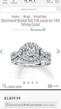 Must. Have.   http://www.kay.com/en/kaystore/r6-rings-101488--1/diamond-bridal-set-7-8-carat-tw-14k-white-gold-080673200--1/101488/101488.101499