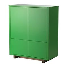 STOCKHOLM Cabinet with 2 drawers - green - IKEA (1 of 2) To replace our desk? Check wood quality.