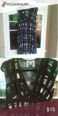 Blue, black & white dress Blue & black dress  Bundle 2 or more items from my closet & save 15%! Dresses Midi