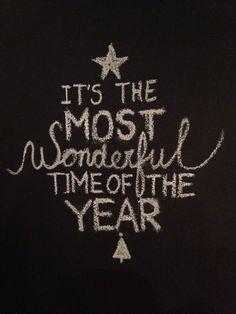 Chalkboard Christmas Wishes on my kitchen wall. Happy XMAS!