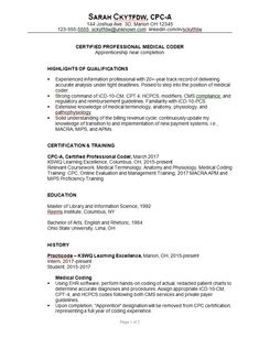 Medical Coding Resume Samples A Good Example Of A Woman's Acting Resume  Becoming A Thespian
