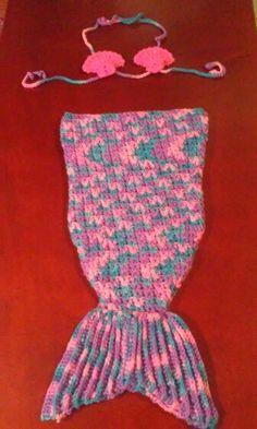 Cola sirena bebe crochet