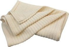 Pure Rest Striped Chenille Organic Cotton Blanket