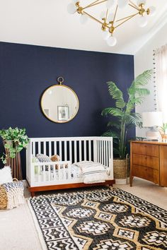 Bookmark this for modern, minimal nursery decor inspiration. Baby Room, Cribs, Toddler Bed, Cots, Nursery, Baby Beds, Crib Bedding, Playroom, Babies Rooms