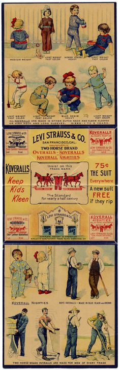 Koveralls Keep Kids Kleen!     Print ad from the 1930s.