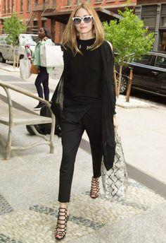 6/3 #オリビア・パレルモ #肩あきカーディガン #サルエルパンツ #カットアウトサンダル |海外セレブ最新画像・私服ファッション・着用ブランドまとめてチェック DailyCelebrityDiary*