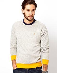 Image 1 of Farah Vintage Sweatshirt with Contrast Hem