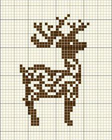 Reindeer cross stitch by Mudgey Xmas Cross Stitch, Cross Stitch Charts, Cross Stitch Designs, Cross Stitching, Cross Stitch Embroidery, Embroidery Patterns, Cross Stitch Patterns, Cross Stitch Freebies, Crochet Cross
