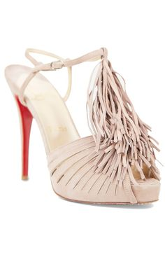 Christian Louboutin Dusty Rose suede leather sandal