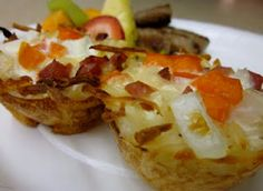 Hash Brown Egg White Nests #Recipe #Breakfast