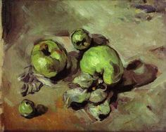 """Cezanne - Green Apples, 1873 (""""damn, those are some sexy apples!"""" - my painting teacher)"""