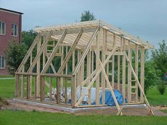 The 12 x 24' Parway Passive Solar Greenhouse Framing - SunCatcherGreenhouse.com