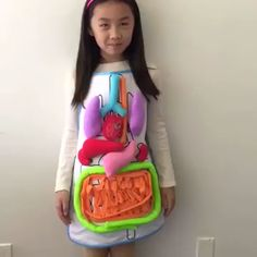 OFF Anatomy Apron - Fun way to teach anatomy and help introduce kids to what's inside a human body. Teach kids about - Creative Activities For Kids, Science Projects For Kids, Toddler Learning Activities, Video Games For Kids, Teaching Kids, Diy For Kids, Kids Learning, Crafts For Kids, Kids Videos