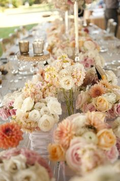 pastel wedding flowers indoor wedding reception centerpieces