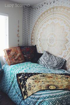 Lady Scorpio Bohemian Bedroom Mandalas & Decor Inspiration