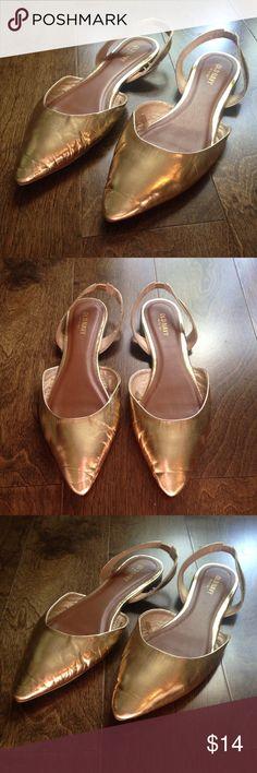 Gold Slingback Flats Shiny! Old Navy Shoes