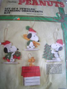 Christmas-Malina-Felt-Applique-Ornament-KIT-SNOOPY-Woodstock-Peanuts-8400-002