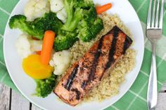 Forget burgers — grilled salmon makes an impressive, healthy, and delicious main course any day of the week. Try this simple salmon recipe before the summer ends. Easy Salmon Recipes, Fish Recipes, Seafood Recipes, Roasted Salmon, Grilled Salmon, Healthy Crockpot Recipes, Slow Cooker Recipes, Yummy Recipes, Dinner Recipes