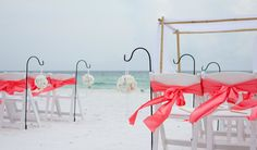 pink beach wedding in panama city beach florida by princess wedding co
