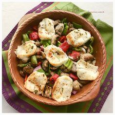 Fırında Hellimli Mantar- Oven baked mushroom w/ halloumi