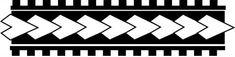 Padrão de flechas maori.