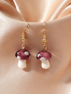 Design Forward. Dreams Delivered.  Women's Fashion Metal Color:Gold Material:Resin Color:Purple Type:Dangle Style:Boho Ear Jewelry, Cute Jewelry, Resin Jewelry, Jewelery, Jewelry Accessories, Funky Earrings, Diy Earrings, Pearl Earrings, Accesorios Casual