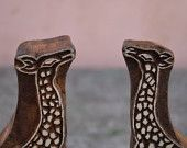 Giraffe traditional Indian henna carved wood block stamps of Rose wood apartment, home, house toy