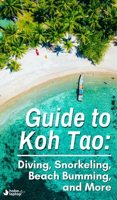 """Getting Around in Koh Tao: Diving, Things to Do, and Places of Interest : """"If you're looking for things to do in Koh Tao –diving, places to stay, and things to see; this Koh Tao travel guide is for you. Travel Advice, Travel Guides, Travel Tips, Travel Destinations, Travel Packing, Travel Plane, Travel Hacks, Spain Travel, Thailand Travel"""