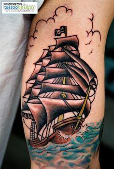 pirate ship tattoo drawing - Google Search