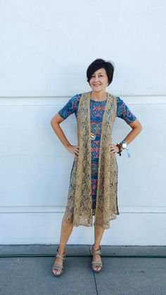 Love the new LuLaRoe Joy!  This light weight, sleeveless, lace makes a great layering piece!  Join my VIP page to get yours now. https://www.facebook.com/groups/692247170876129/