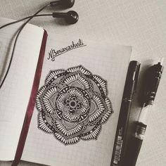 art, black, black and white, creative, drawing, flower, henna, inspiration, mandala