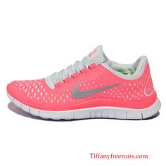 Nike Free 3.0 V4 Womens Hot Punch Reflective Silver Shoes