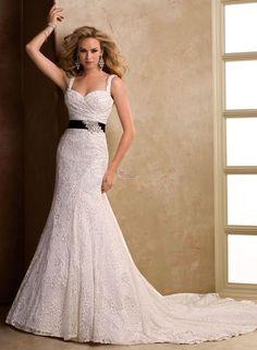 2017 New Elegant Sweetheart Beading Sheath Sashes Lace Wedding Dresses