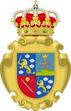 Coat of Arms of Spanish Philippines by IEPH Manila, Spanish Flags, Order Of The Garter, Grand Cross, Tudor Rose, Filipiniana, Spanish Culture, Bold Jewelry, Zuko