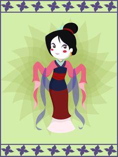 chibi mulan   Mulan Chibi: by artistic-minds