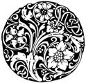 Clear stamp x FLONZ clingy acrylic stamp // Flowers & Leaves pattern: Clear Stamp with clingy back for using with acrylic block Mandala Stencils, Mandala Art, Ornaments Design, Xmas Ornaments, Acrylic Flowers, Black N White Images, Arts And Crafts Supplies, Ink Pads, Clear Stamps