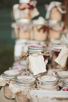Mason Jar favors!