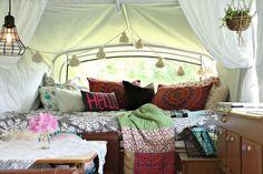 Boho Inspired Pop-Up Camper Re-do