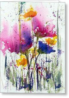 Meadow Medley Greeting Card by Anne Duke