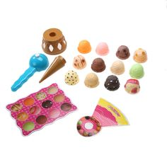 Colorful Ice Cream Set for Imaginary Play:  Price: $14.88 & FREE Worldwide Shipping.  Visit us and see our 300+ catalog.  We sell toys, materials and costumes with a learning purpose.  Your kids will thank you later!