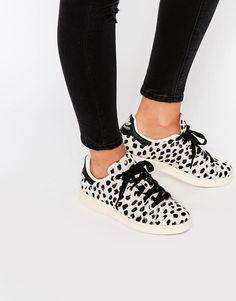 adidas Originals Cheetah Print Pony Stan Smith Sneakers