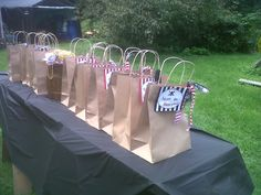 Each child had a pirate name and was given a plain bag to collect the loot.