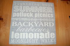 .: How to make a stencil with vinyl