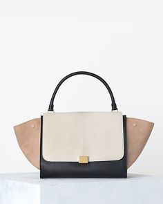 3770b659c24c CÉLINE Trapeze In Multicolor Pony Calfskin Cream Celine Trapeze Bag