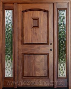 Search for our thousands of Interior Wood Doors available in a variety of designs, styles, and finishes. Wooden Front Door Design, Wooden Front Doors, Main Door Design, Timber Door, Interior Barn Doors, Exterior Doors, Entry Doors, Room Doors, House Doors