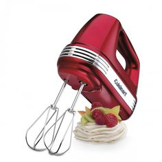 Bake in style with the Cuisinart Metallic Red Power Advantage 7-Speed 220-Watt Hand Mixer, available at the Food Network Store.