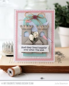 Once Upon a Time Stamp Set, Floral Fantasy Background, Castle Die-namics, Stitched Rectangle Scallop Edge Frames Die-namics, Stitched Traditional Tag STAX Die-namics, Stitched Star STAX Die-namics, Blueprints 20 Die-namics - Julia Stainton  #mftstamps