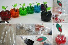 Diy plastic bottle apples!!